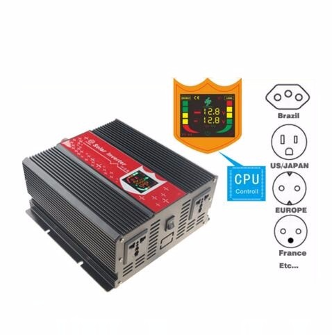 Intelligent digital display peak power 4000W off grid tie 2KW 2000W DC12V to AC110V/120V/220v Pure Sine Wave Power inverter solar power on grid tie mini 300w inverter with mppt funciton dc 10 8 30v input to ac output no extra shipping fee