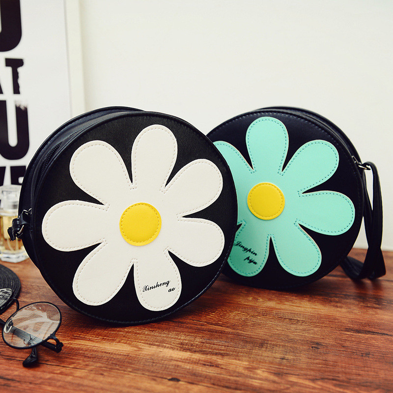 2017 Cute Sun Flower Sweet Shoulder Bag Messenger Bag Handbag Tote Satchel Purse High Quality Free Shipping P180