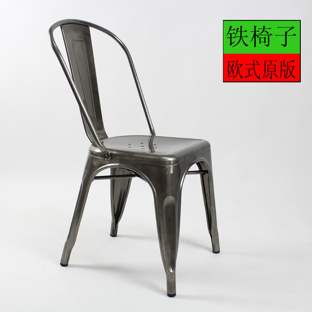 old metal chairs children s table and wooden european chair leisure dining stylish ikea industrial designer to do the stool
