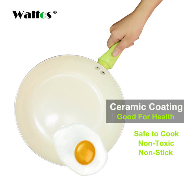WALFOS Non-stick Copper Frying Pan with Ceramic Coating Induction  cooking,Oven Dishwasher safe Kitchen accessories Cooking Tools