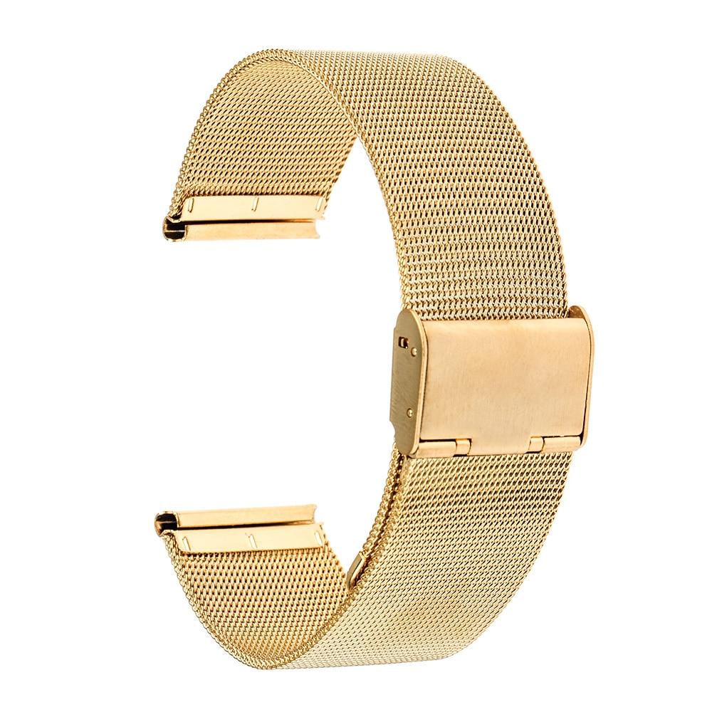 Milanese urbånd 22mm til småsten / stål Asus Zenwatch 1 2 22mm - Tilbehør til ure - Foto 3