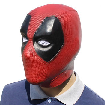 Movie Deadpool Cosplay Mask Latex Full Head Helmet Deadpool Wade Winston Wilson Party Costume Masks Adult Funny Props