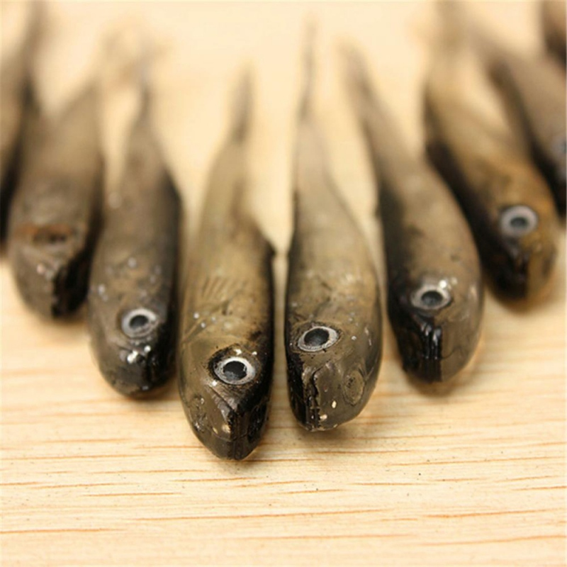 New 10 Pcs/Set Lure 60g for Soft PVC material Fishing Fishing Wor Jig Head Soft Lure Fly Fishing Bait Fishing Lures ...