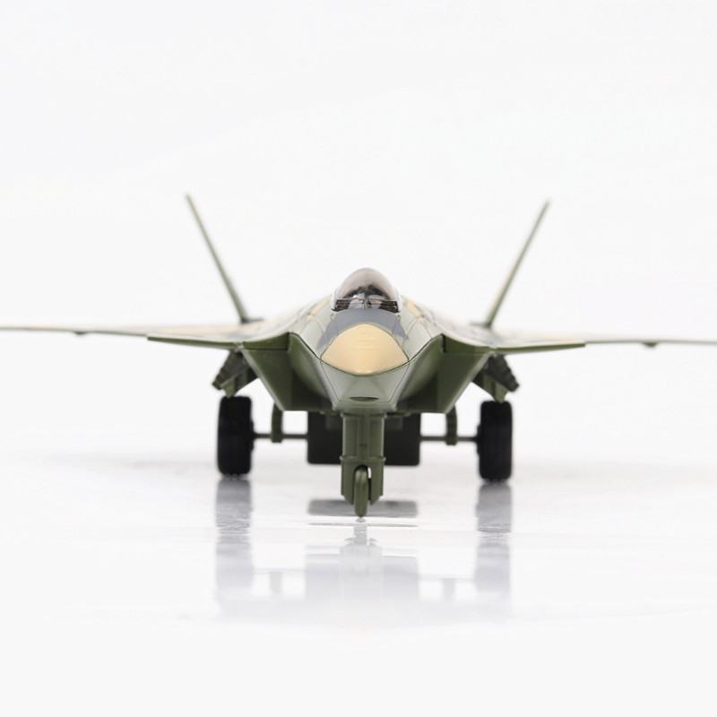 US $16 87 30% OFF 1:32 Scale Chinese J 20 Fighter Alloy Plane Mini Scale  Simulation Pull Back Fighter Model with Sound and Light Boy Aircraft Toy-in