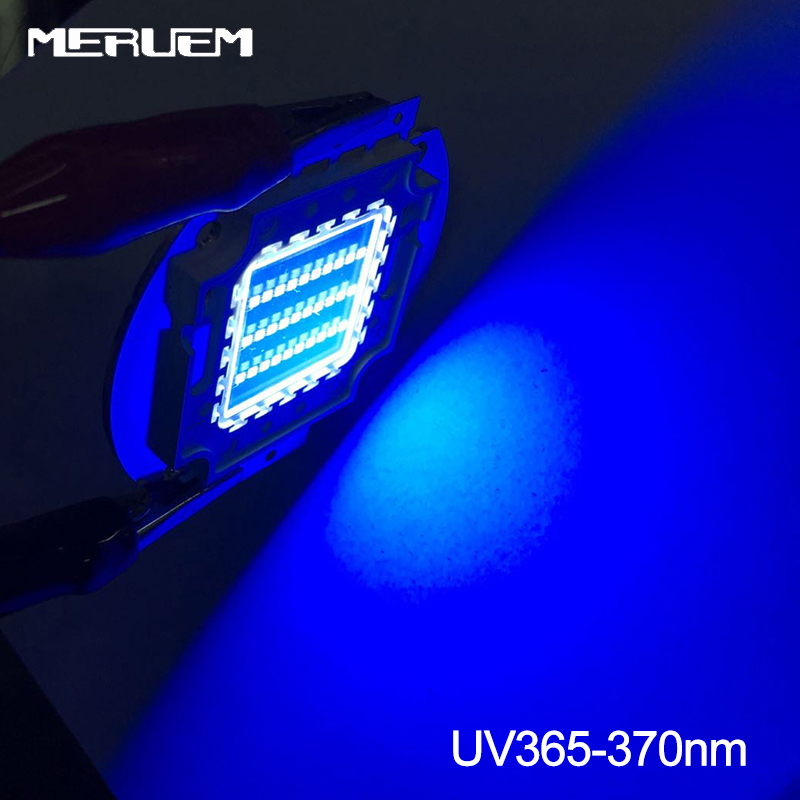 UV Purple LED Integrated Chips 365nm 370Nm 395Nm 400Nm High Power COB Ultraviolet Lights For Money 10/20/30/50/100W Nail Dryer
