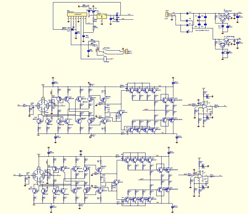 refer KRELL ksa5 Class A headset amplifier DIY kit 2N556 MJE15034 MJE15035  BC556 546 OMRON WLX