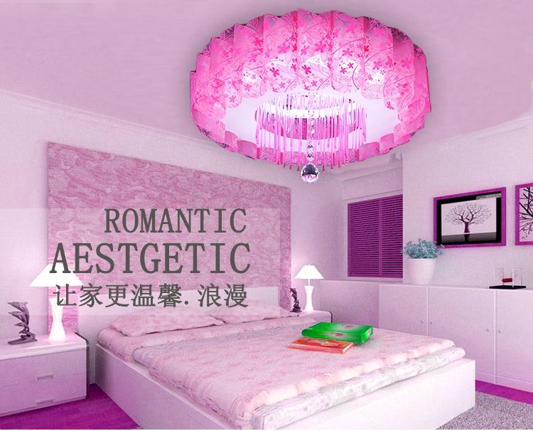 Heart Shaped Lamp Bedroom Crystal Lamp House Flower Shaped Festive ...