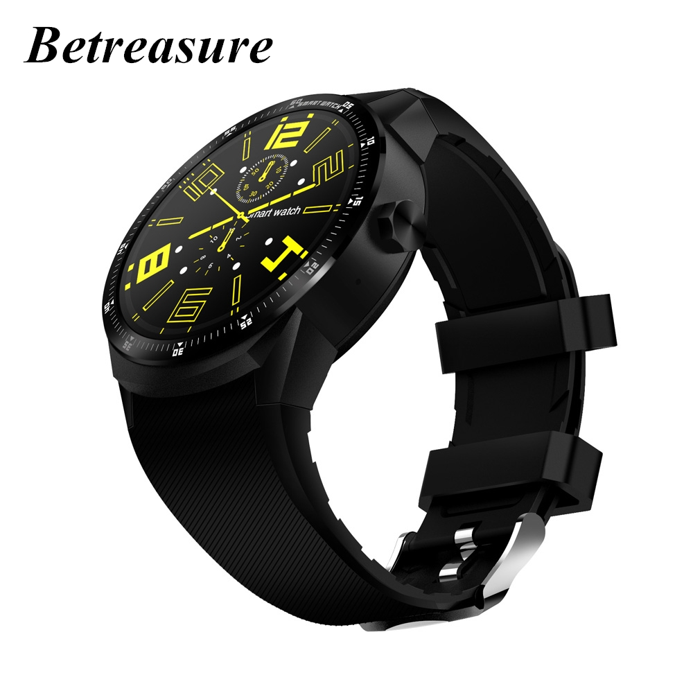 Betreasure K98H Smart Watch Android Bluetooth Heart Rate Monitor Sport Watch Waterproof GPS Wifi Men Watches For Mobile Phone betreasure bluetooth os5 1 android smartwatch heart rate monitor smart watch gps 3g wifi fitness men watch for android ios phone