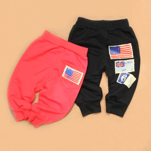 Infant children baby spring all-match trousers knitted cotton casual sports pants openable-crotch pants legs