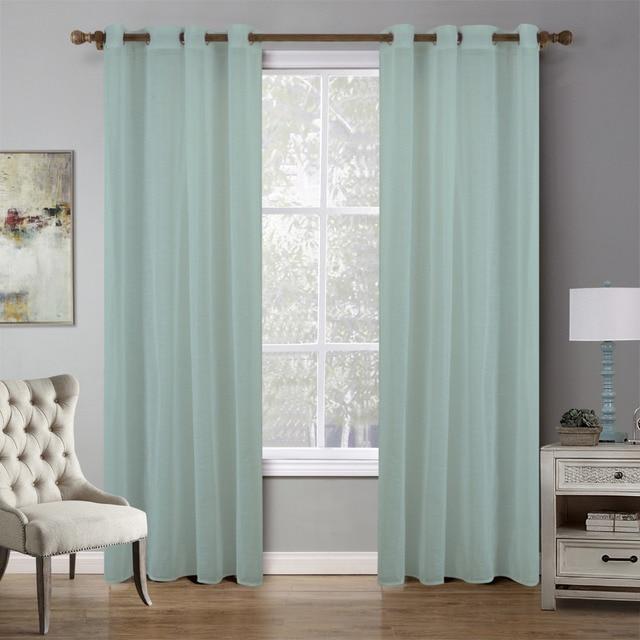 2017 Modern tulle cortinas balcón lujo verde cortinas de la ...