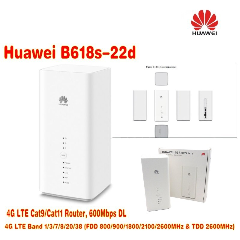Huawei B618 LTE Cat11 Wireless Gateway+4G LTE MIMO 49dBi TS9 Connector lf ant4g01 4g lte ts9 plug 49dbi mimo antenna signal booster