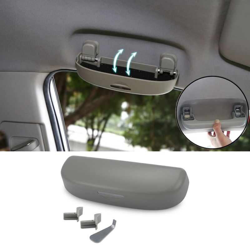 Car Sunglasses Holder Storage Box Case For Audi A3 A4 B6 B8 B5 A6 C5 C6 TT Q5 Q7 Q3 A5 A8 A7 A1 R8 8P 8L 8V R8 RS Sline Quattro oem glove box lights set 8kd 947 415 c 4b0 947 415 a 8d0 947 415 fit vw audi a3 a4 a5 a6 allroad quattro a7 q3 q5 q7 tt