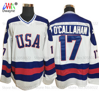 2017 Dwayne Mens Usa Ice Hockey Jersey Vintage 1980 Miracle On Ice Team USA O Callahan