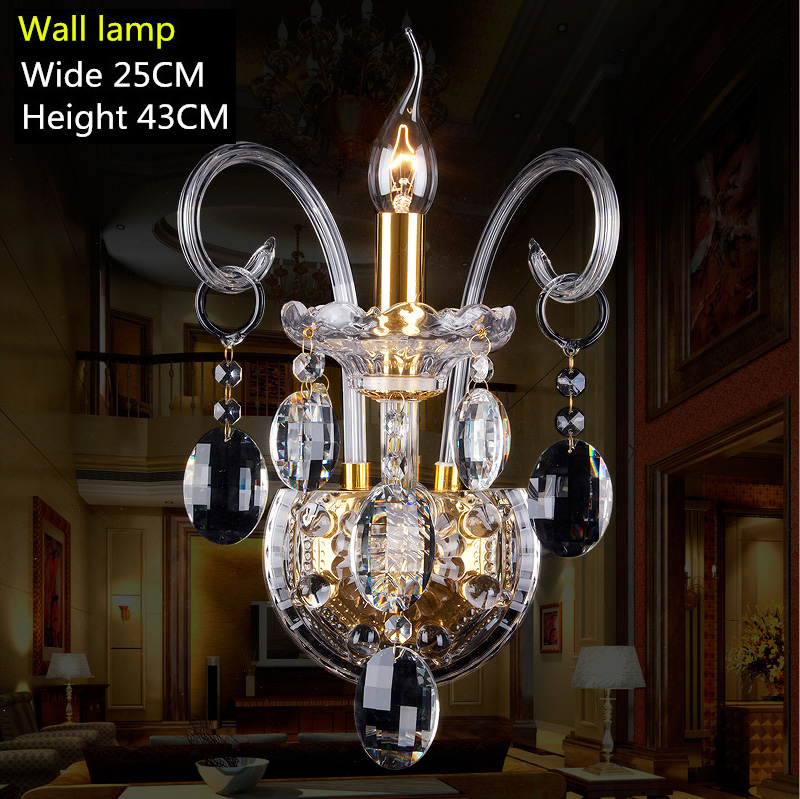 modern crystal wall lamp bedroom cristal luminaria gold candle light crystal wall Sconce bedside led  wall lighting Bar abajur modern lamp trophy wall lamp wall lamp bed lighting bedside wall lamp