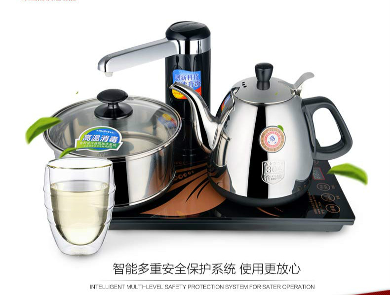 Automatic water electric kettle teapot intelligent induction tea furnace Safety Auto-Off Function free shipping automatic water supply electric kettle tea set pumping furnace