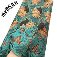 Worthsjlh mais recente tecido de renda africano 2018 alta qualidade rendas nigeriano tecido 2019 cabo tule francês laços tecidos com pedras