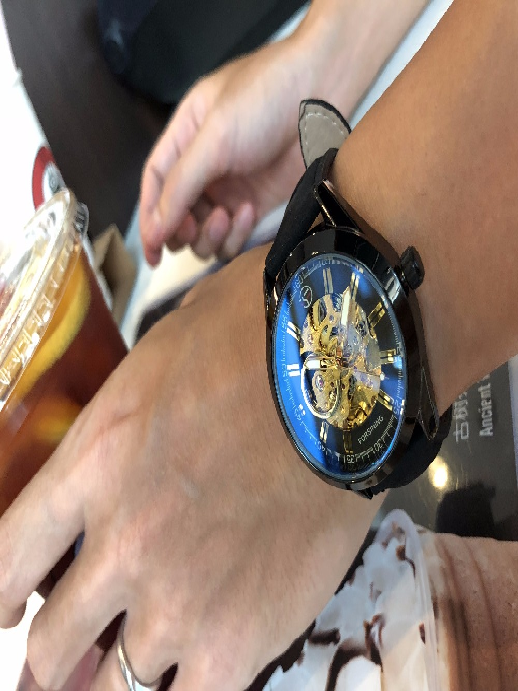 HTB1KV0JXgr5ZeJjSZFqq6zfvVXa1 Forsining 2017 Mens Casual Sport Watch Genuine Leather Top Brand Luxury Army Military Automatic Men's Wrist Watch Skeleton Clock