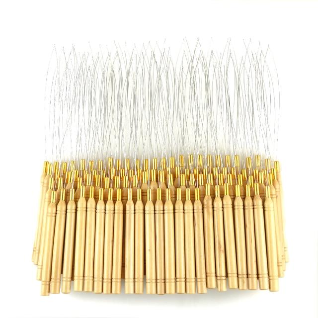 Aliexpress buy 50pcs hair extension hook pulling tool needle 50pcs hair extension hook pulling tool needle threader micro rings beads loop wooden handle pmusecretfo Images