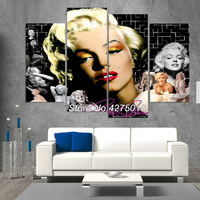 DIY Diamond Painting Cross Stitch Kit Full Diamond Embroidery 5D Square Diamond Mosaic Home Decor Marilyn Monroe 4pcs ML190