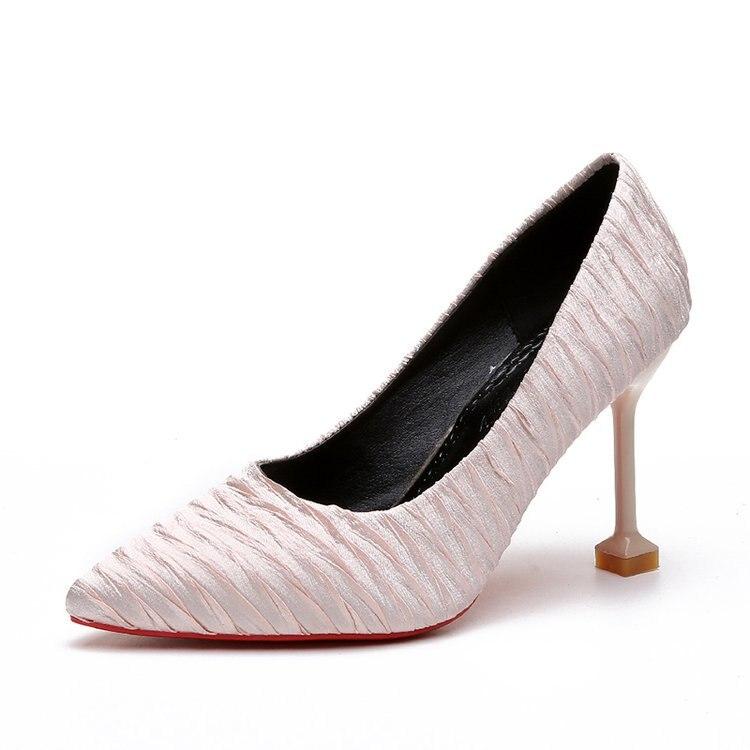 المرأة الكعب العالي مضخات وأشار اصبع القدم سيدة الأحذية البرية الضحلة الفم حذا فردي للسيدات-في أحذية نسائية من أحذية على  مجموعة 1