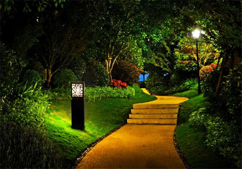 Jardim Lâmpada Do Gramado Moderno de Alumínio