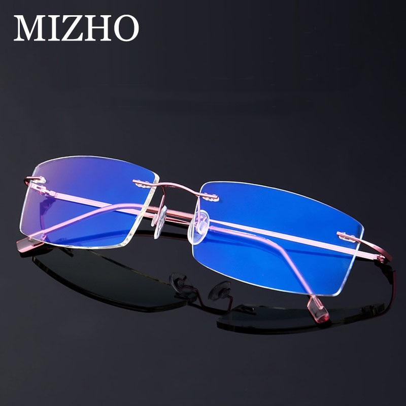 Computer-Glasses Anti-Blue Rays-Radiation Business Rimless Clear Rectangular Eyewear