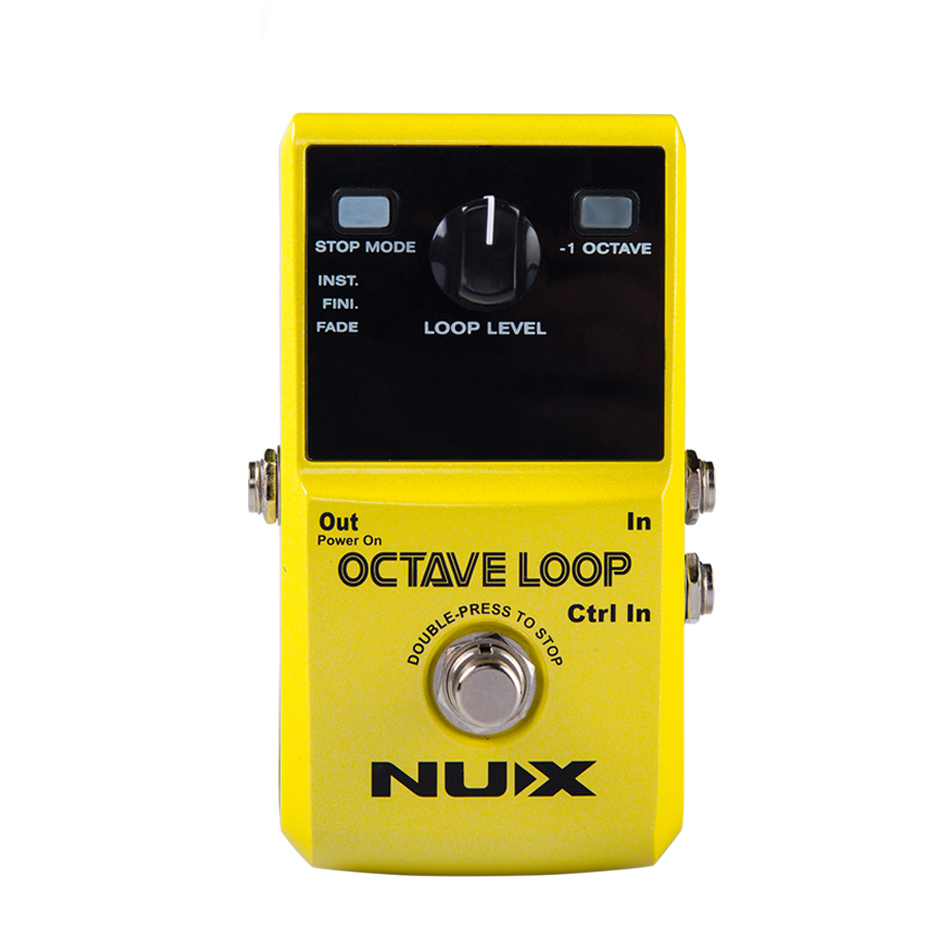 Nux Octave Loop Guitar Pedal 24-bit Uncompressed Recording Guitar Effect Pedal True Bypass Guitar Accessories new ab looper effect pedal loop switcher true bypass for electric guitar pedal orange foot switch