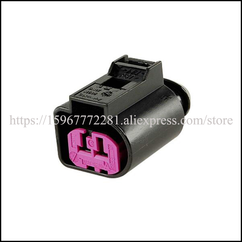 free shipping 1J0 973722 electrical wire connectors automotive cable terminal male female connector plug socket 2pin Connector in Connectors from Lights Lighting