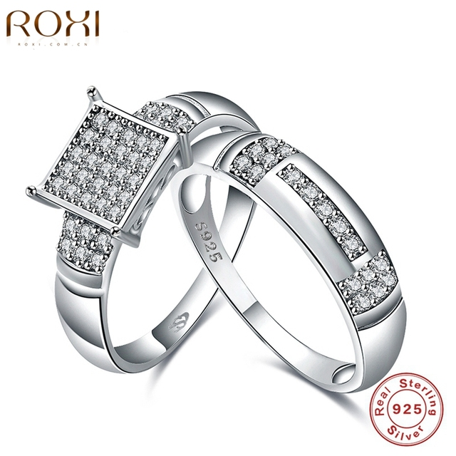 ROXI Rings For Women Palace Wedding Ring Set Pure 925 Sterling Silver Ring Fashion Jewelry Engagement Body Jewelry Charm Gifts