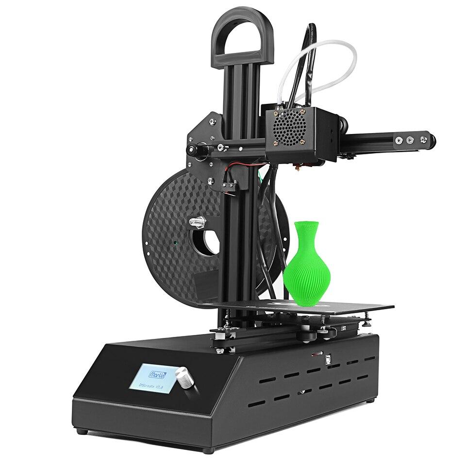 Kit d'imprimante 3D léger portatif DMSCREATE DP2 kits d'imprimante 3d avec la précision d'impression stable d'extrudeuse de Bowden de haute qualité