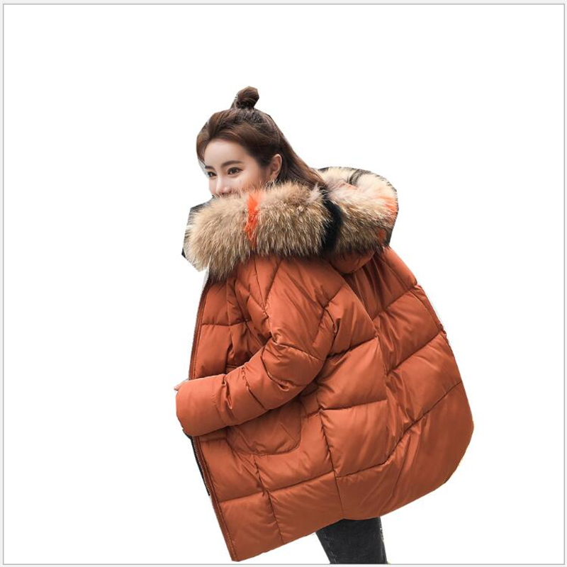 2019 New Thick Warm Hooded Women   Parka   Fashion winter Jacket women Casual Loose Oversize Outerwear Ladies 189