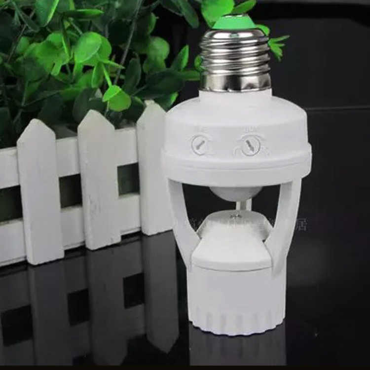 Free NEW AC 110-240V 360 Degrees 60W PIR Induction Motion Sensor IR infrared Human E27 Plug  Led Bulb light Lamp Holder