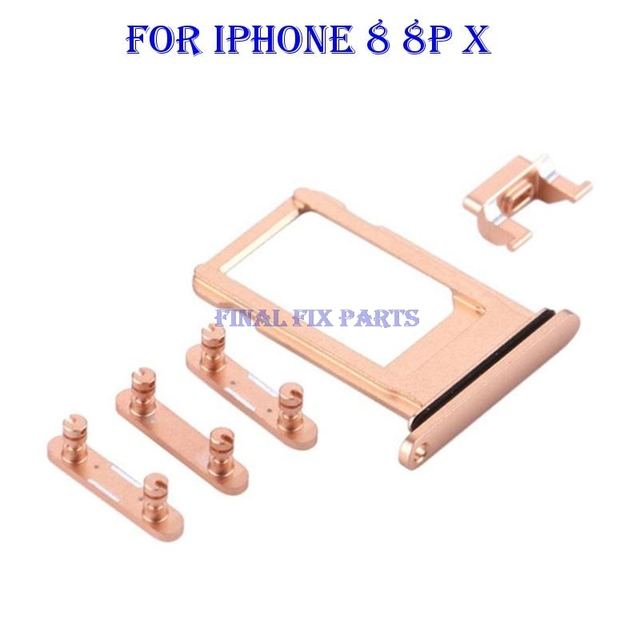 New Sim Card Tray Volume Power Mute Button Set For Iphone 8 8g