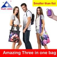 ABSPIELENKING Faltbare tasche Reise mini Rucksack Druck Männlichen Wasserdicht Frauen männer schule rucksäcke für mädchen jugendliche sac a dos