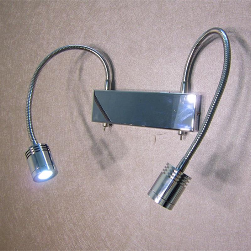 Topoch LED İşıq Dəyişən Gooseneck Divar Çırağı 2X3W CREE - Daxili işıqlandırma - Fotoqrafiya 5