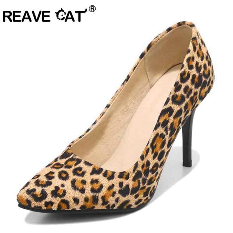 f4fec2c59f9 Detail Feedback Questions about REAVE CAT Sexy Women Pumps Leopard ...