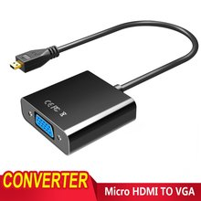 High Quality Micro HDMI to VGA Video Converter Adapter Cable For PC Digital Camera Table Projector(China)