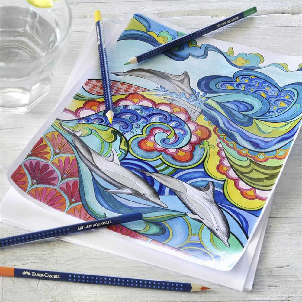 Faber castell blue iron box professional 60 color water soluble color pencil art grade art dedicated