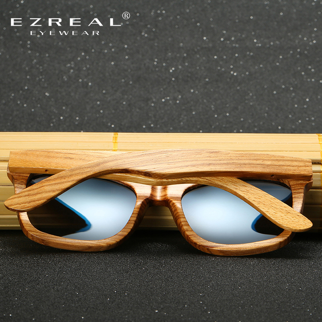 EZREAL Zebra Wood Bamboo Sunglasses