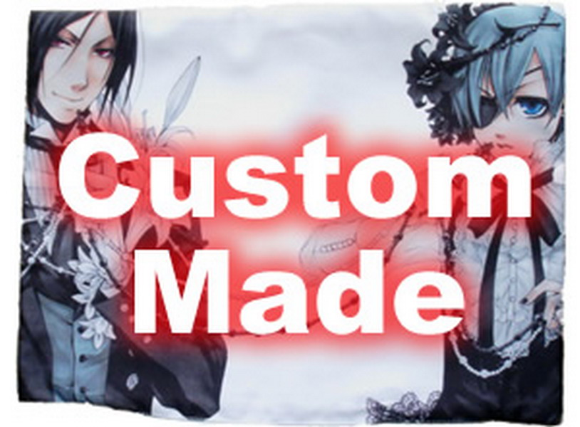 Oct. New Home Textile Custom Made Anime / Manga DIY Single Side/Double Side Polyester/Micro-suede/2WT 2Way Pillow Case 60x40cm image