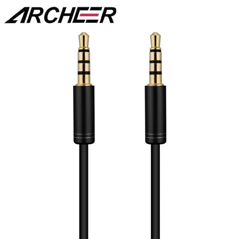 ARCHEER 3.5mm Stereo Aux Cable 1.5m 4 Pole Male To Male