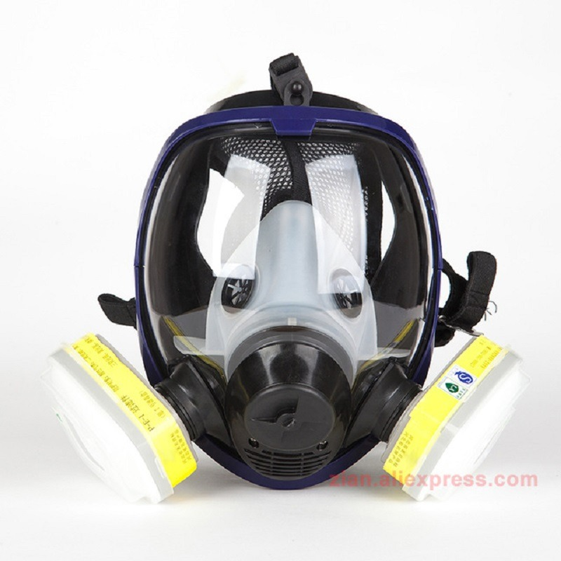 Sjl Full Face 6800 7 Piece Gas Mask Pesticides Facepiece Respirator Painting Spraying 6001 Filter Cartridge Chemical Medicine Factories And Mines Festive & Party Supplies Back To Search Resultshome & Garden