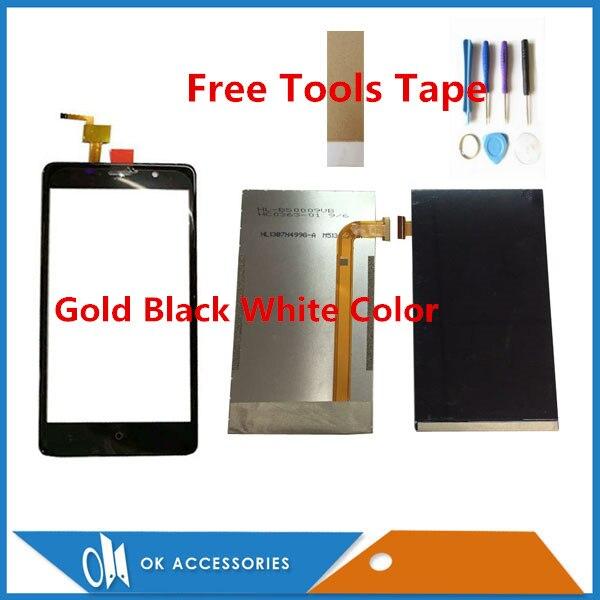 Schwarz Weiß Gold Farbe 5,0 zoll Für Leagoo M5 Separate Touchscreen Und Lcd Display Mit Tools Band