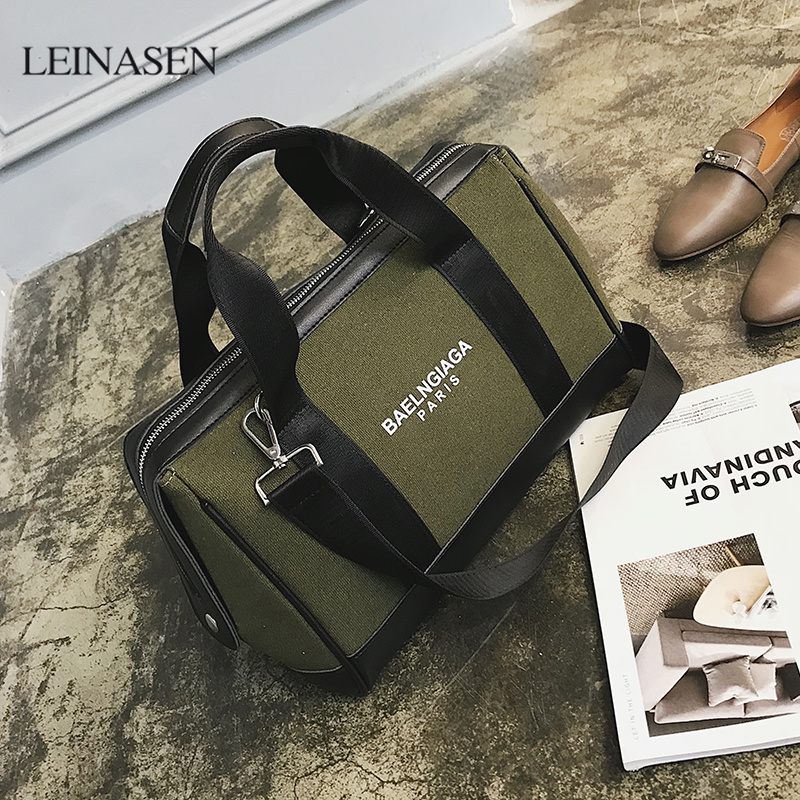 2018 New handbags Europe and the United States fashion canvas bag tide letters shoulder bag large capacity channels louis gg bag europe and the united states graffiti handbags 2017 summer new shoulder bag retro wild bandel chain package messenger bag tide