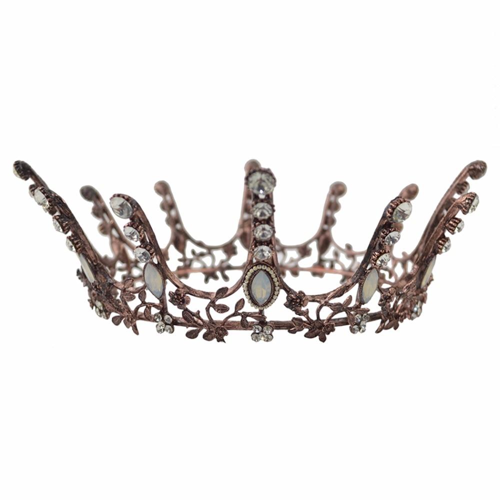 Idealway Barock Luxury Pearl Bridal Crown Bröllopsfest Prom Vintage - Märkessmycken - Foto 6