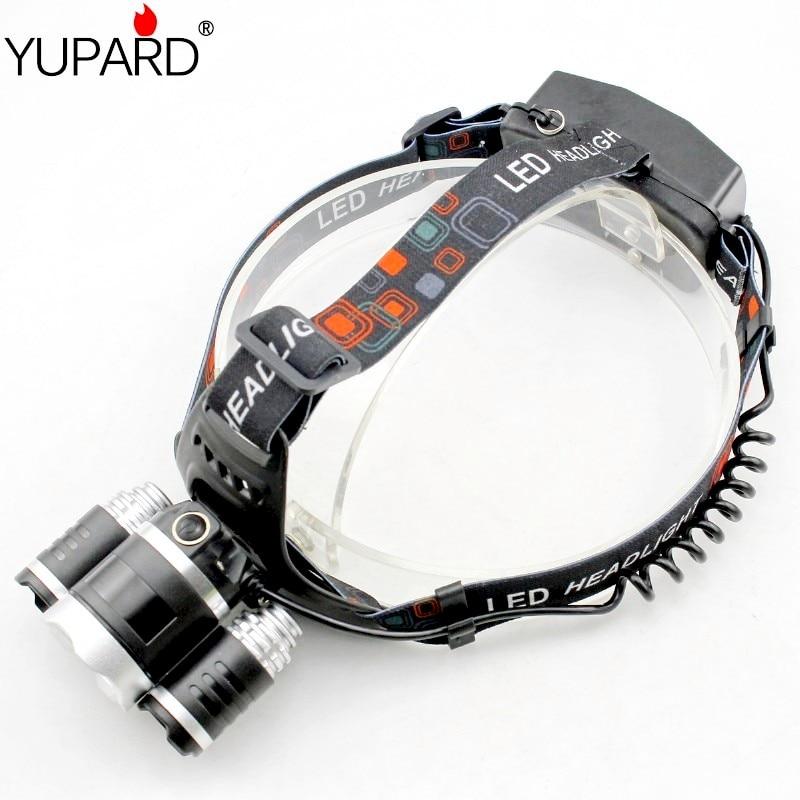 یوپارد 3 * XM-L2 چراغ جلو T6 LED USB شارژ USB - روشنایی قابل حمل