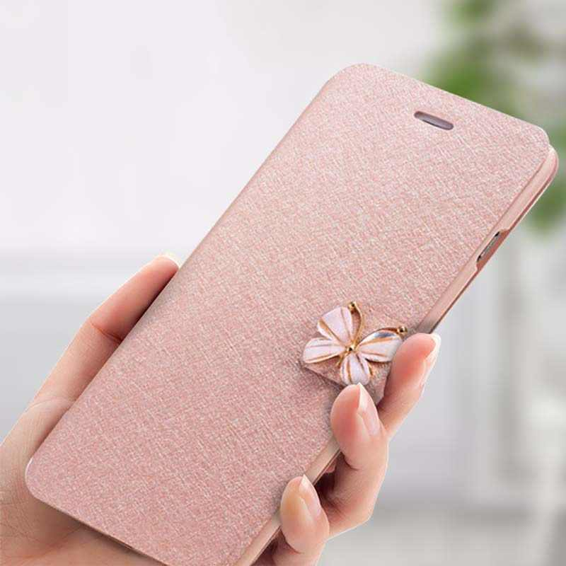 Tikitaka Crystal Diamond bow-knot Butterfly Leather Wallet Case For iPhone 8 7 6 6s Plus SE 5 5s SE Flip Phone Cases Slim Cover
