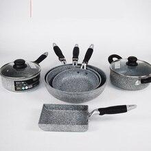 20-28 см каменный противень в японском стиле кованая Алюминиевая антипригарная Жарка керамическое покрытие для индукционной плиты газовая плита