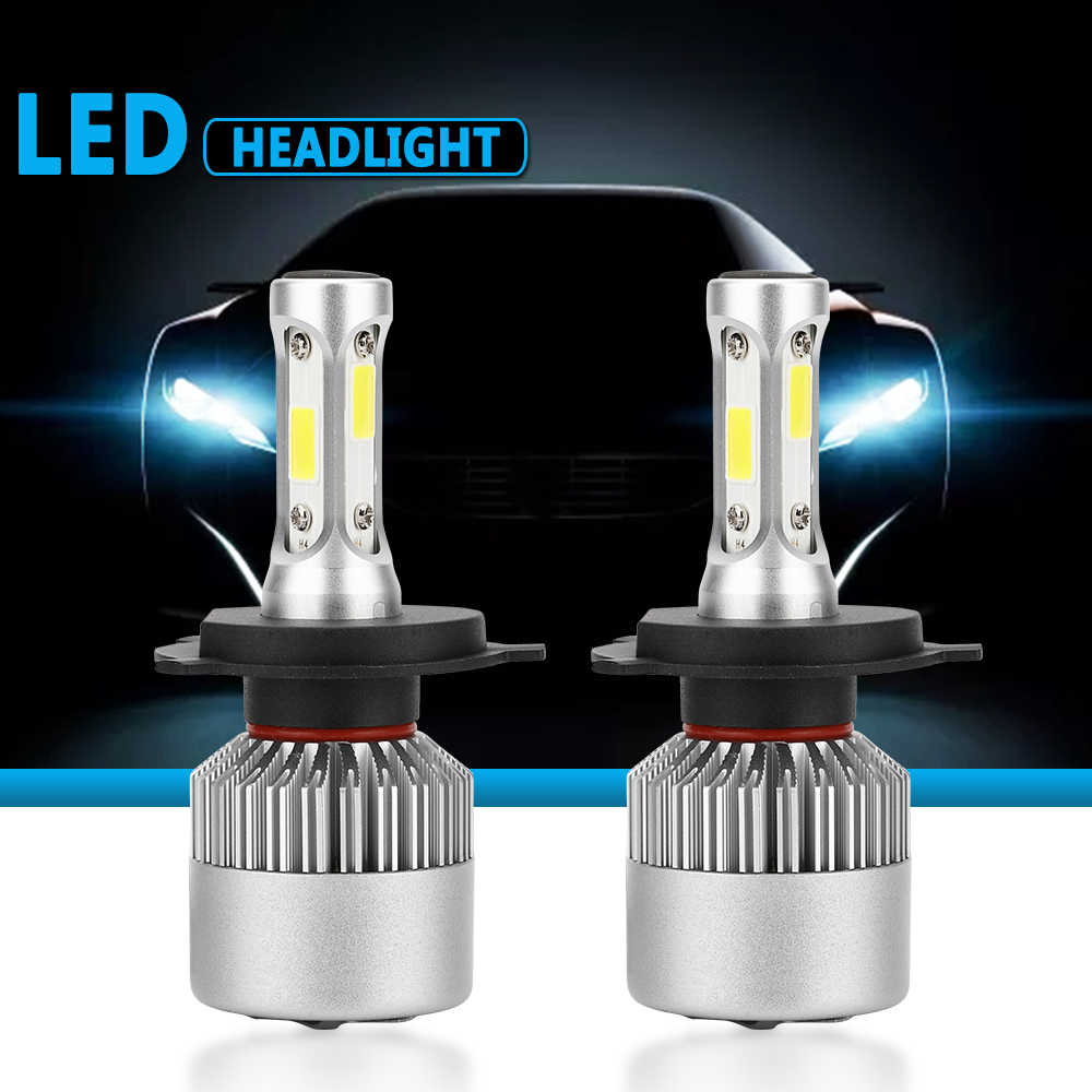 S2 Car Light Bulbs 12V LED H4 LED H7 H11 H13 880 9004 9005 HB3 9006 HB4 9007 80W 6000K Car Headlight Bulb Auto Lamp Lights Bulbs