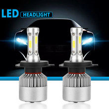 S2 LED 12V Headlight bulb H1 H3 H4 LED H7 H11 H13 880 9004 9005 HB3 9006 HB4 9007 80W 6000K Long Lasting Service Life Car Light(China)